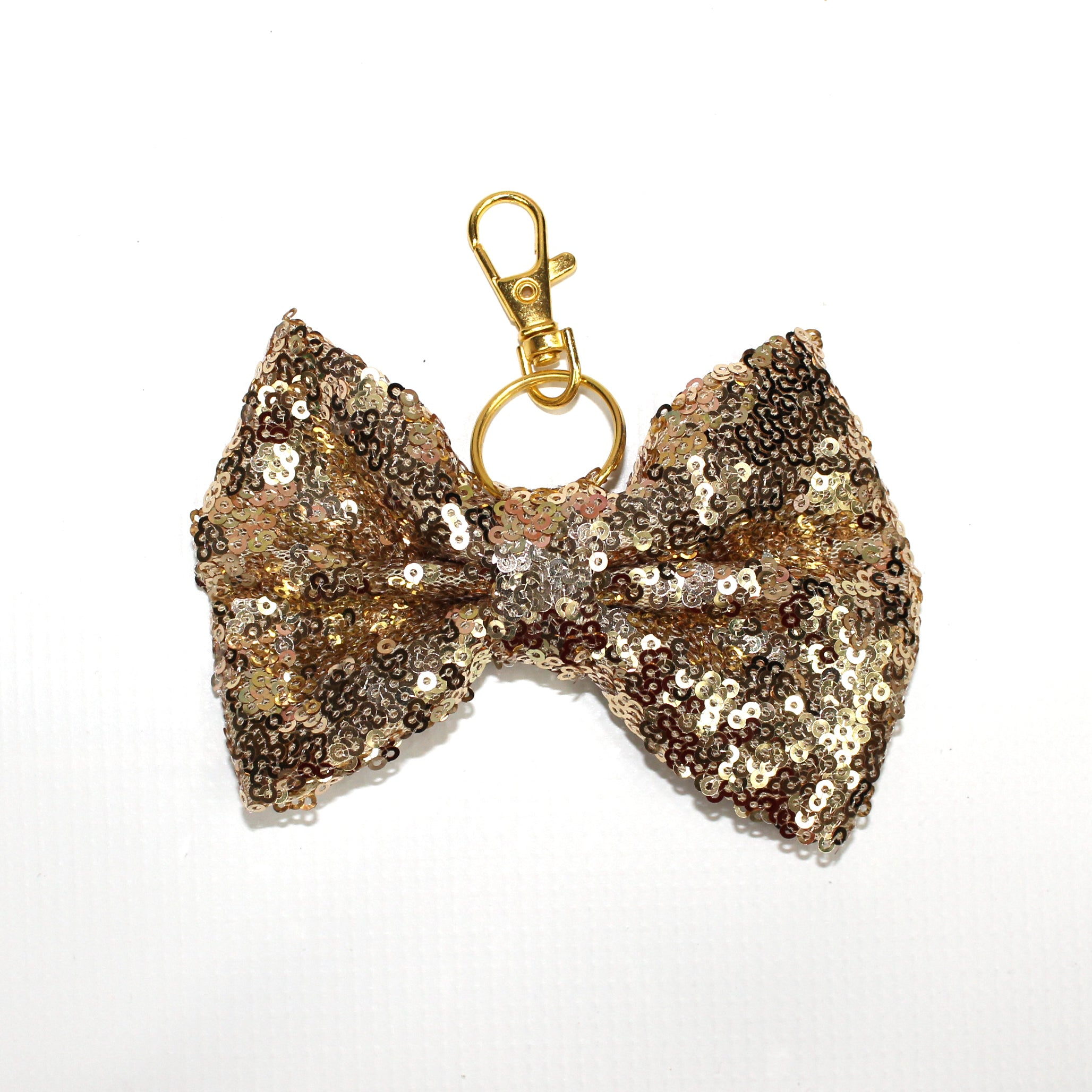Sequin Large TN Bow // Champagne