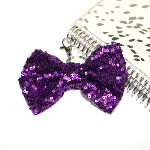 Sequin Large TN Bow // Purple