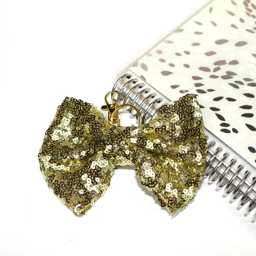 Sequin Large TN Bow // Yellow Gold