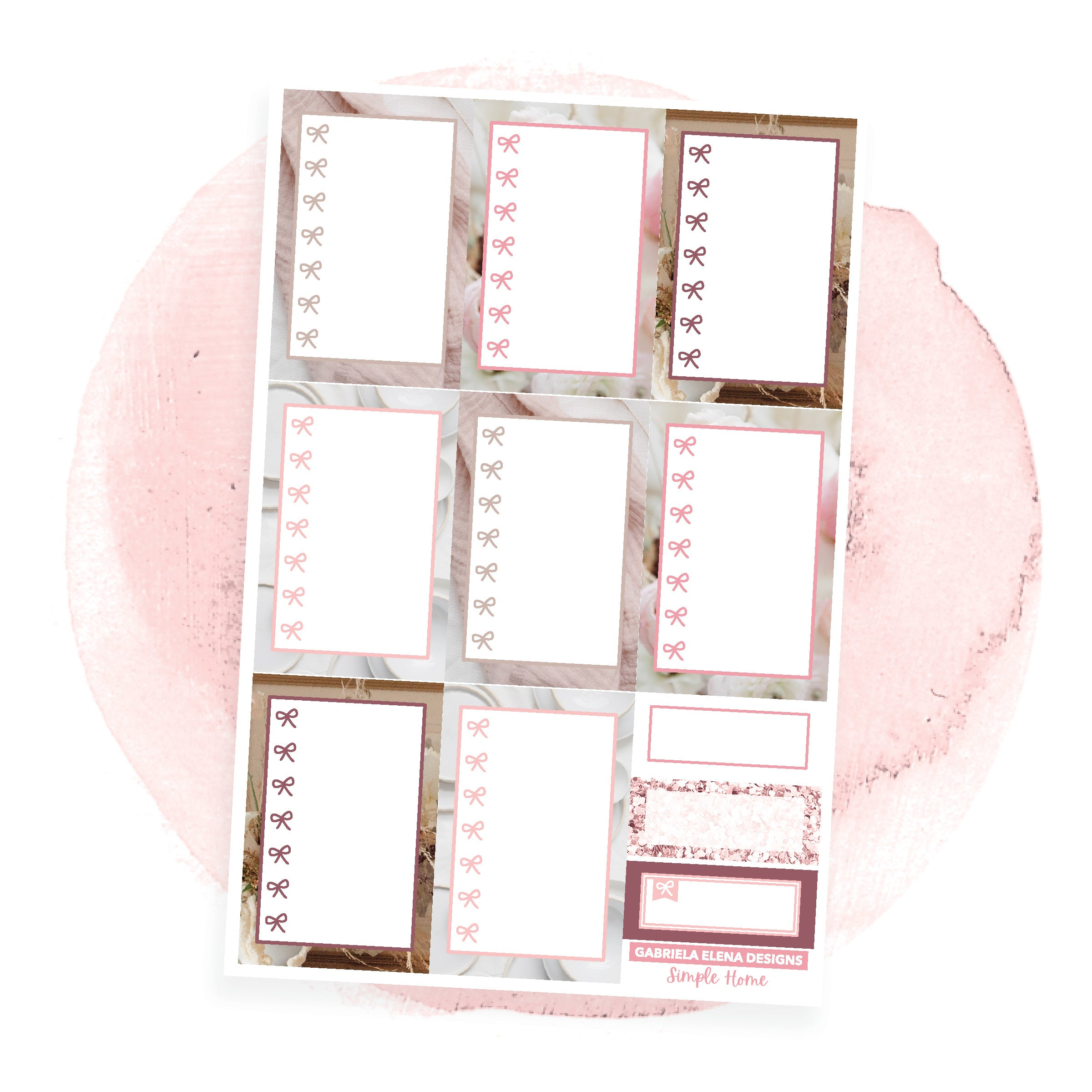 Simple Home / Photo Series // a la carte / Sticker Kit / Check Boxes