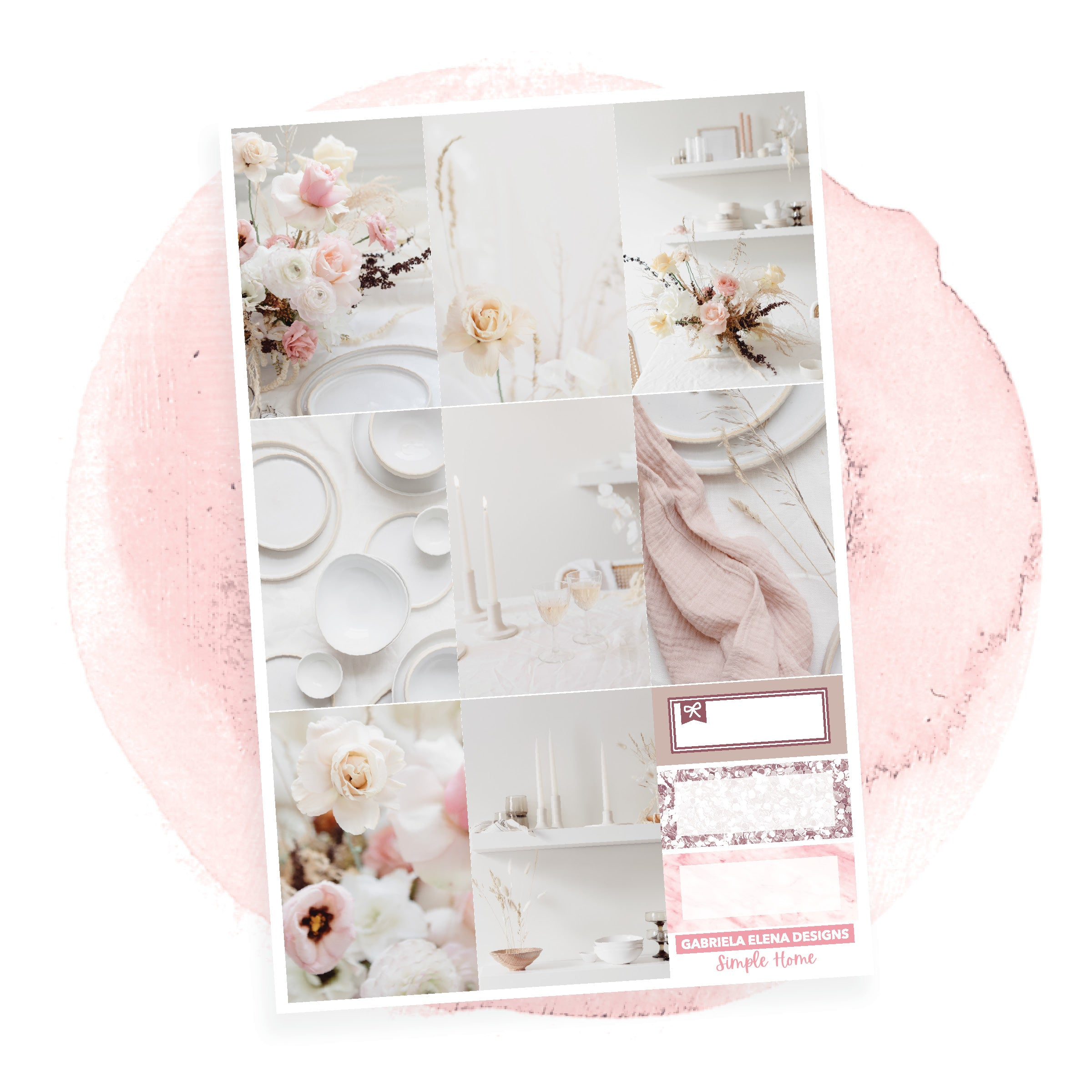 Simple Home / Photo Series // a la carte / Sticker Kit / Full Boxes