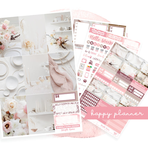Simple Home / Photo Series // CLASSIC HAPPY PLANNER / Sticker Kit