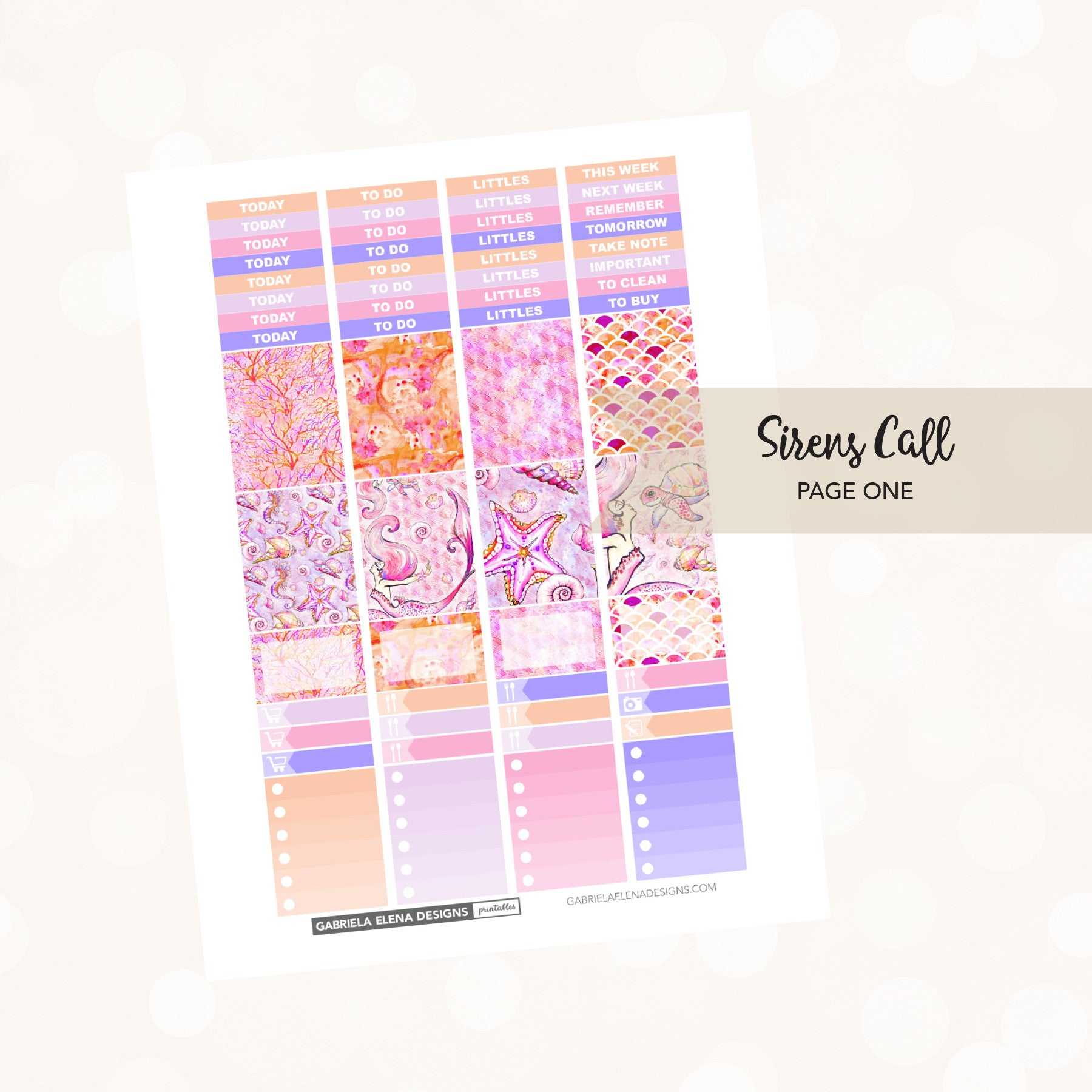 VERTICAL Printable / Instant Download / Sirens Call