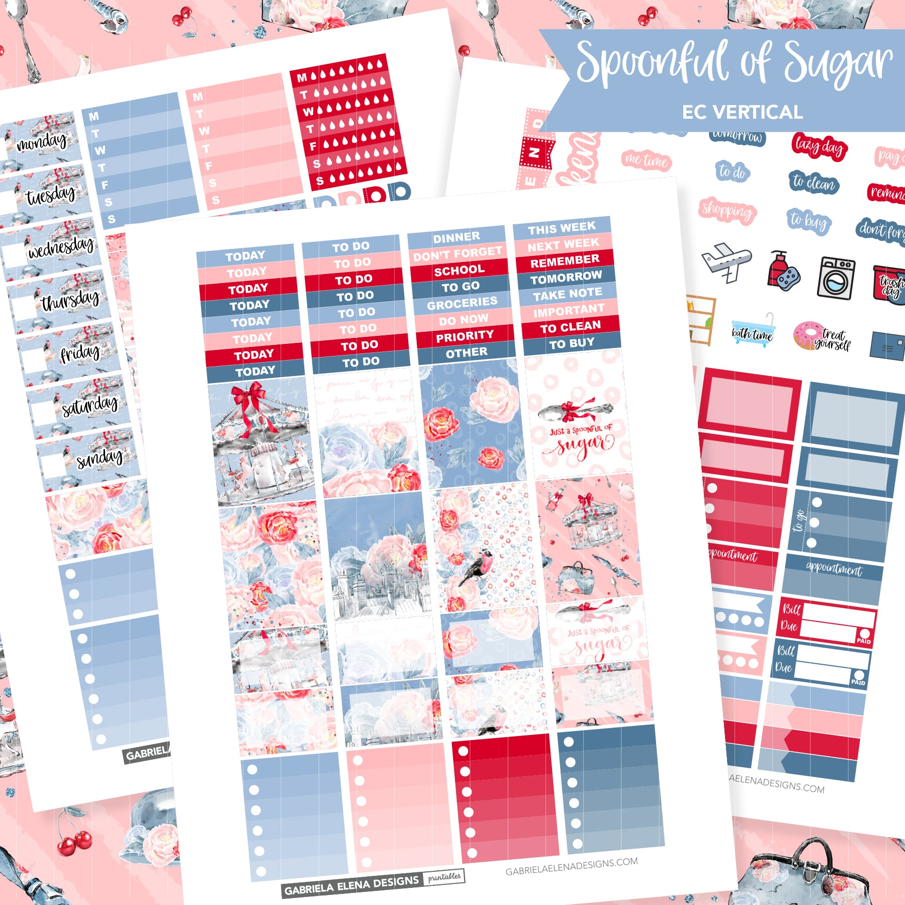 VERTICAL Printable / Instant Download / Spoonful of Sugar