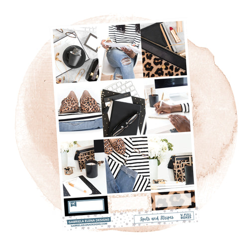 Spots and Stripes / Photo Series // A LA CARTE / Sticker Kit / Full Boxes