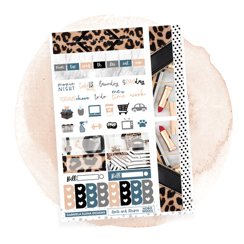 Spots and Stripes / HOBONICHI WEEKS // Sticker Kit