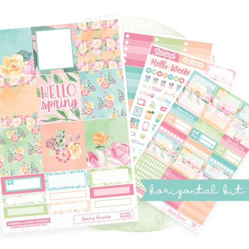 Spring Flowers // EC HORIZONTAL / Sticker Kit