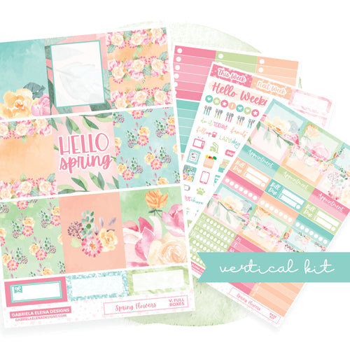 Spring Flowers // EC VERTICAL / Sticker Kit