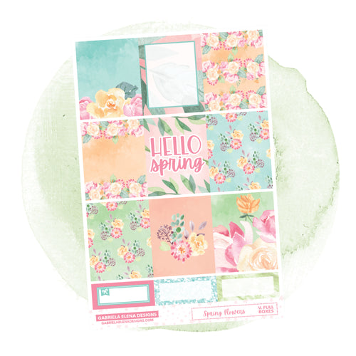 Spring Flowers // a la carte / Sticker Kit / Full Boxes