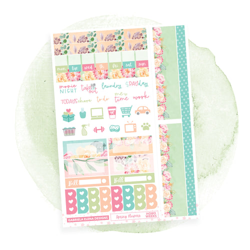 Spring Flowers / HOBONICHI WEEKS // Sticker Kit