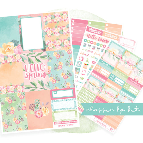 Spring Flowers // CLASSIC HAPPY PLANNER / Sticker Kit