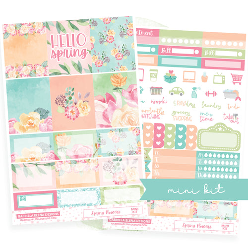 Spring Flowers // MINI KIT / Sticker Kit