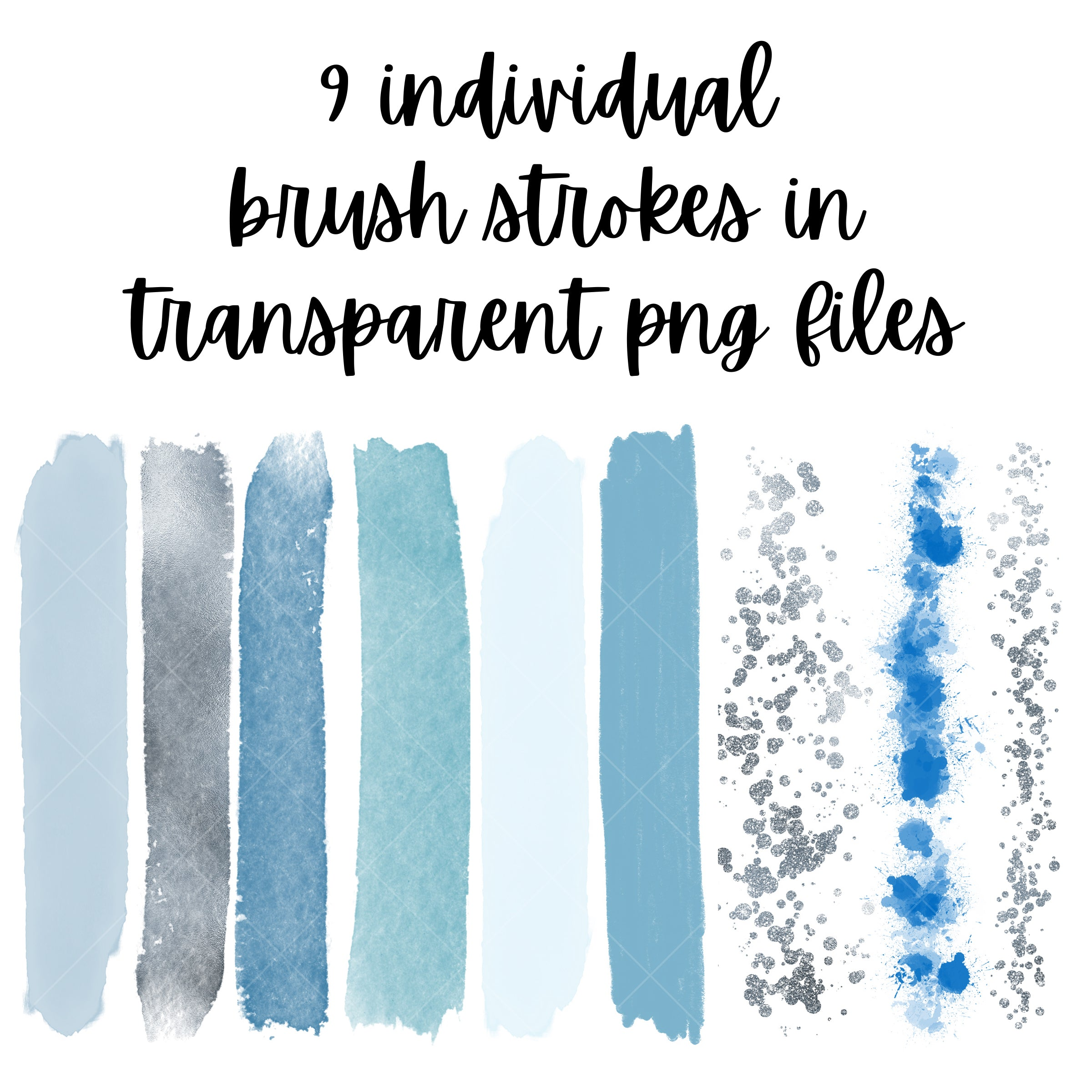 Designer Brushes - Ice Blue