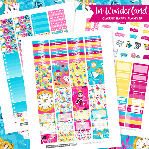 CLASSIC HAPPY PLANNER Printable / Instant Download / In Wonderland