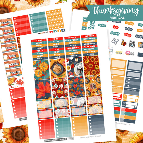 VERTICAL Printable / Instant Download / Thanksgiving