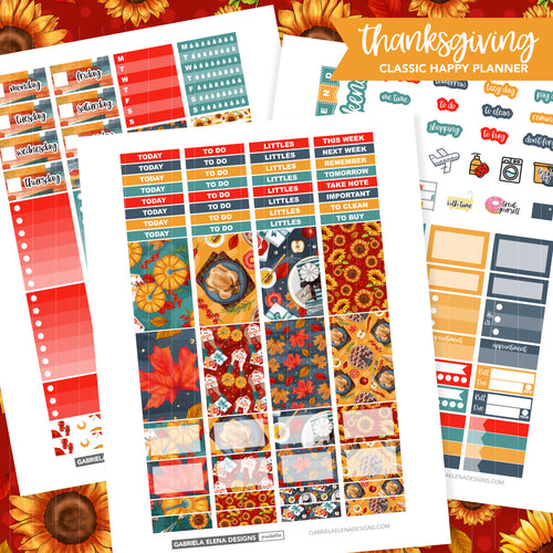 CLASSIC HAPPY PLANNER Printable / Instant Download / Thanksgiving