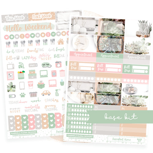 Succulent Home / Photo Series // BASE KIT / Icons / Functional / Sticker Kit