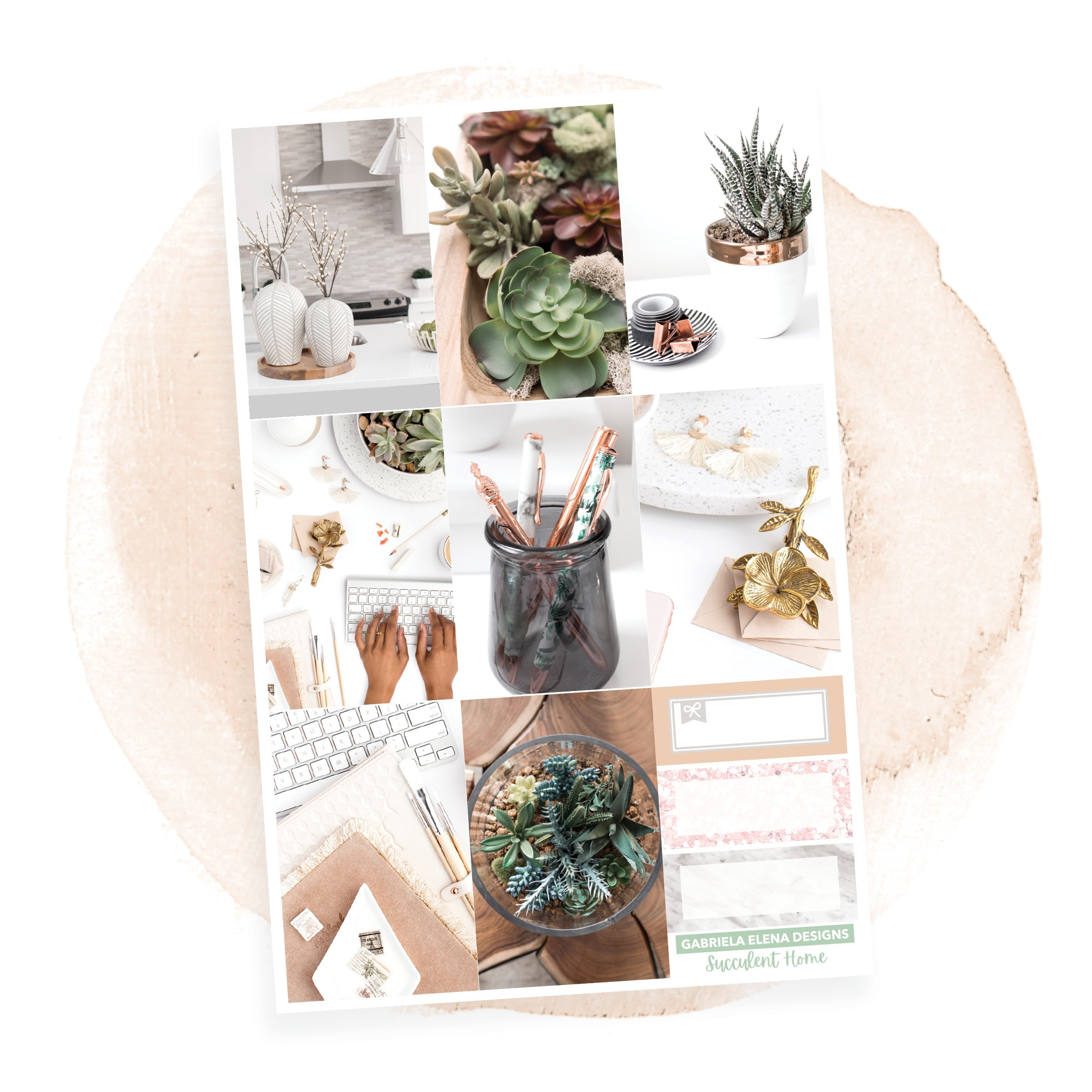 Succulent Home / Photo Series // a la carte / Sticker Kit / Full Boxes / FOIL