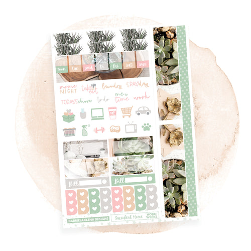 Succulent Home / Photo Series / HOBONICHI WEEKS // Sticker Kit