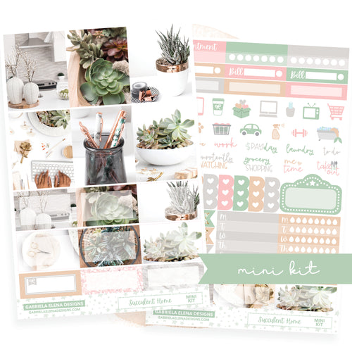 Succulent Home / Photo Series // MINI KIT / Sticker Kit / FOIL
