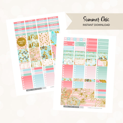 VERTICAL Printable / Instant Download / Summer Chic