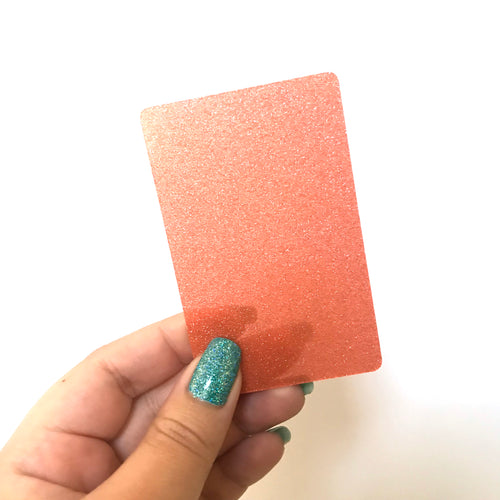 Washi Card // Tangerine Peach Glitter