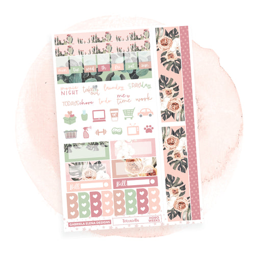 Terracotta / HOBONICHI WEEKS // Sticker Kit