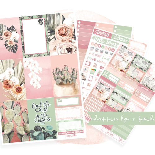 Terracotta // CLASSIC HAPPY PLANNER / Sticker Kit / FOIL