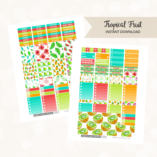 VERTICAL Printable / Instant Download / Tropical Fruit