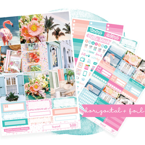 Tropical / Photo Series // HORIZONTAL / Sticker Kit / FOIL
