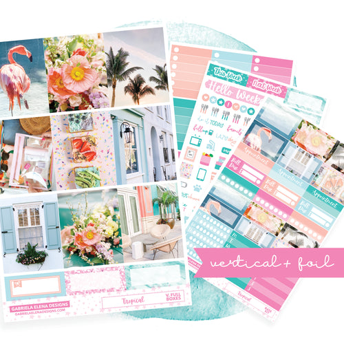 Tropical / Photo Series // VERTICAL / Sticker Kit / FOIL