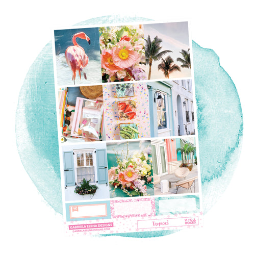 Tropical / Photo Series // a la carte / Sticker Kit / Full Boxes / FOIL