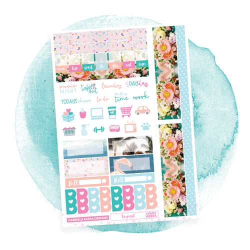 Tropical / Photo Series / HOBONICHI WEEKS // Sticker Kit