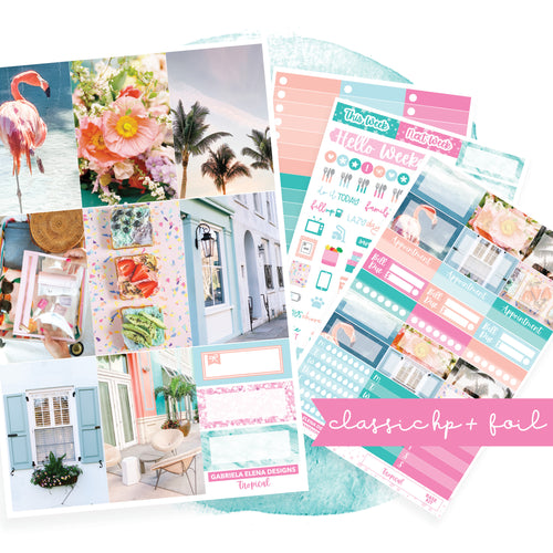 Tropical / Photo Series // CLASSIC HAPPY PLANNER / Sticker Kit / FOIL