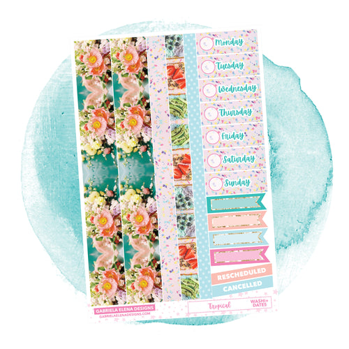 Tropical / Photo Series // a la carte / Sticker Kit Add On / Washi and Date Covers / FOIL