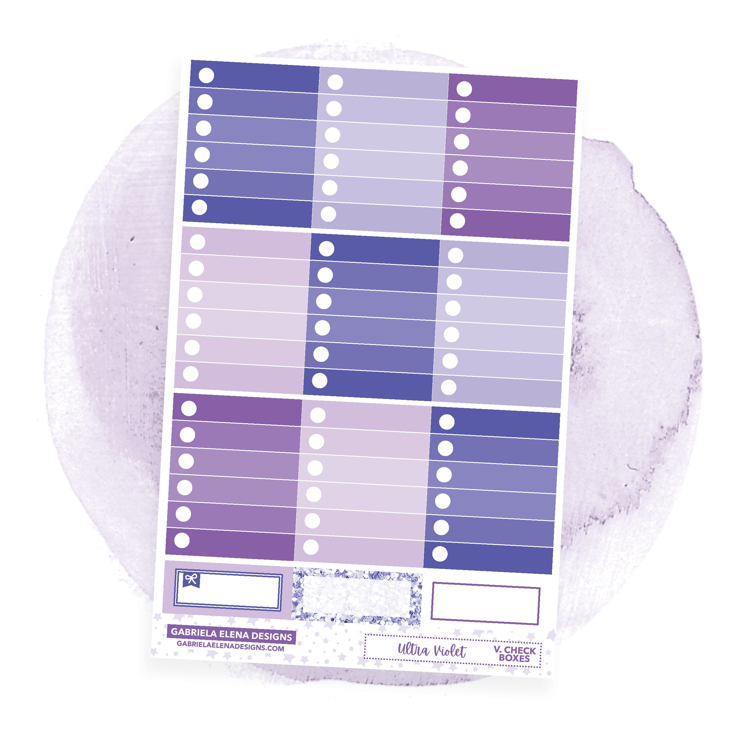 Ultra Violet / Photo Series // a la carte / Sticker Kit / Check Boxes