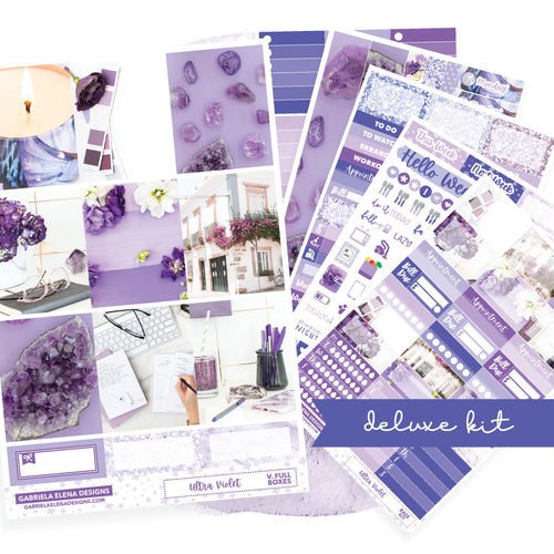 Ultra Violet / Photo Series // Deluxe VERTICAL // Sticker Kit // Full Weekly Kit