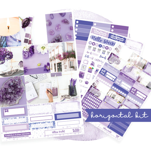 Ultra Violet / Photo Series // EC HORIZONTAL / Sticker Kit