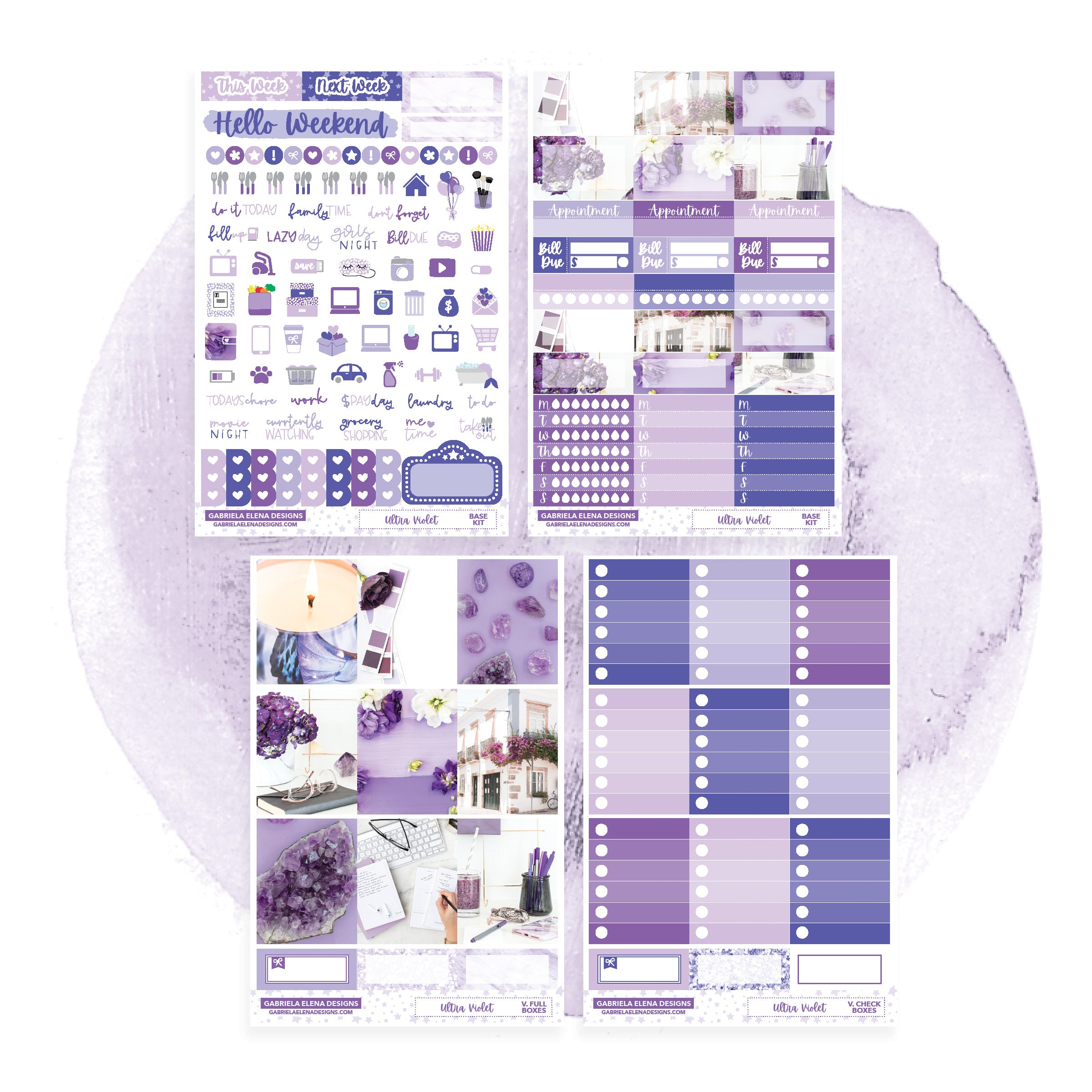 Ultra Violet / Photo Series // EC VERTICAL / Sticker Kit