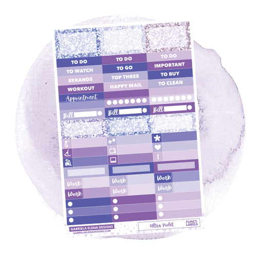 Ultra Violet / Photo Series  // a la carte / Sticker Kit Add On / Functional