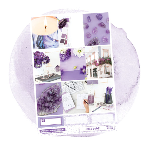 Ultra Violet / Photo Series // a la carte / Sticker Kit / Full Boxes