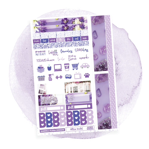 Ultra Violet / HOBONICHI WEEKS / Photo Series // Sticker Kit