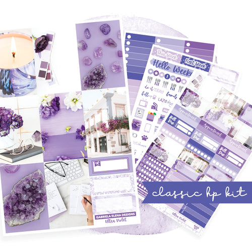 Ultra Violet / Photo Series // CLASSIC HAPPY PLANNER / Sticker Kit