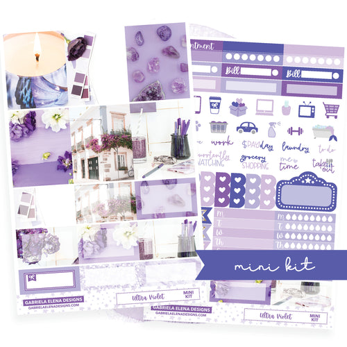 Ultra Violet / Photo Series // MINI KIT / Sticker Kit