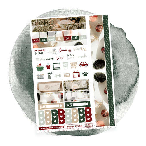 Vintage Holiday / HOBONICHI WEEKS // Sticker Kit