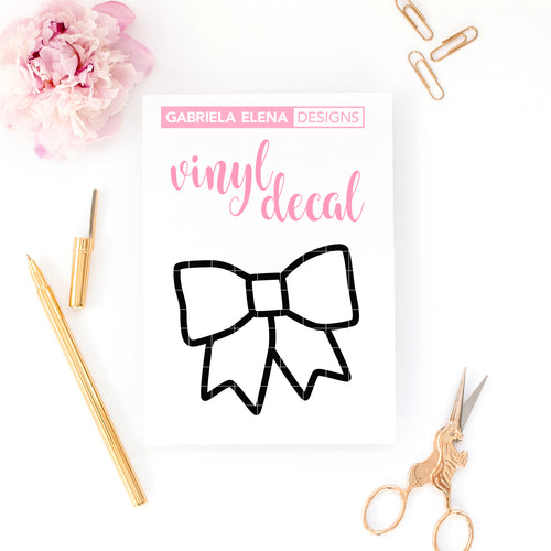 Vinyl Decal // Bow