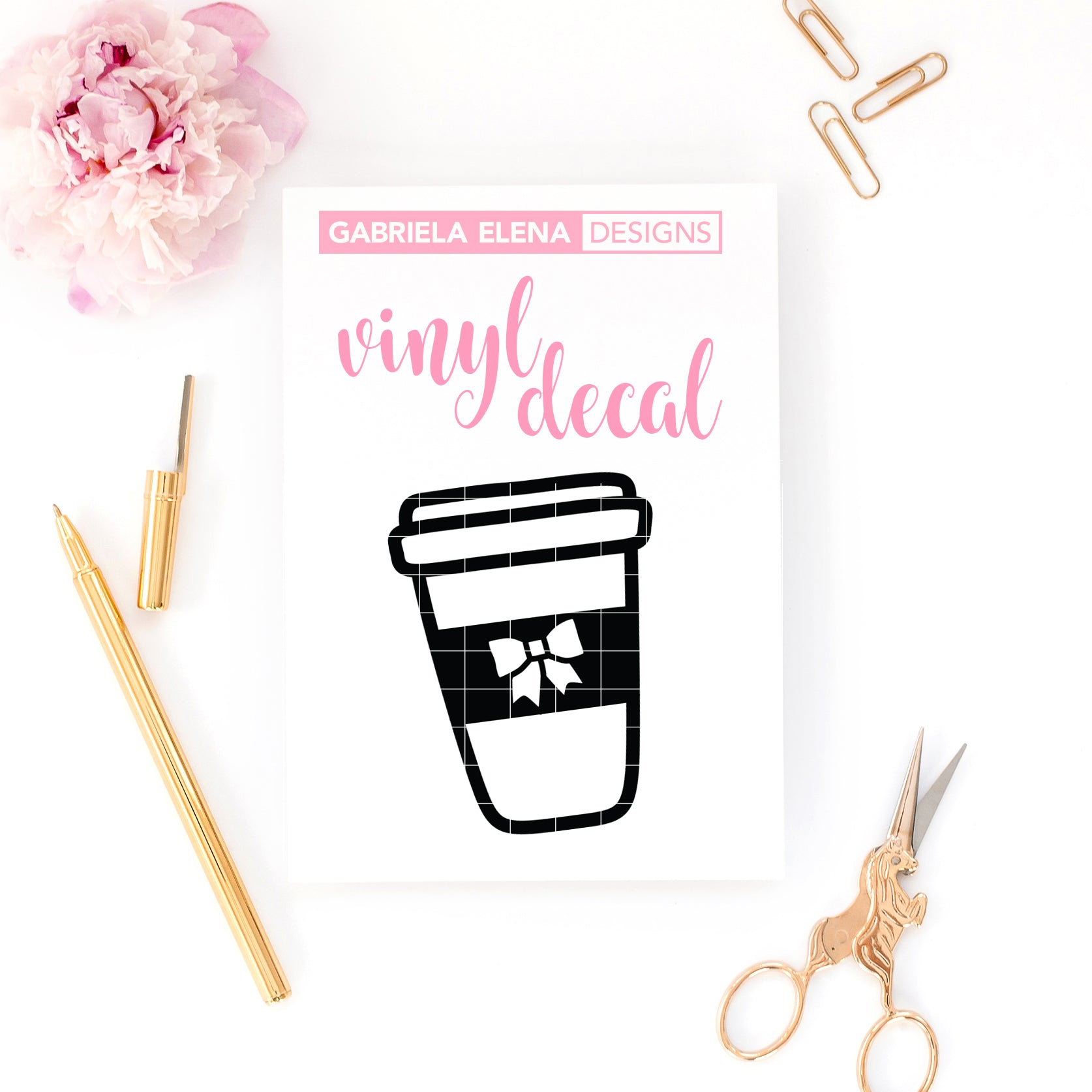 Vinyl Decal // Coffee Tumbler