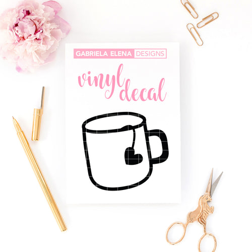 Vinyl Decal // Tea Mug
