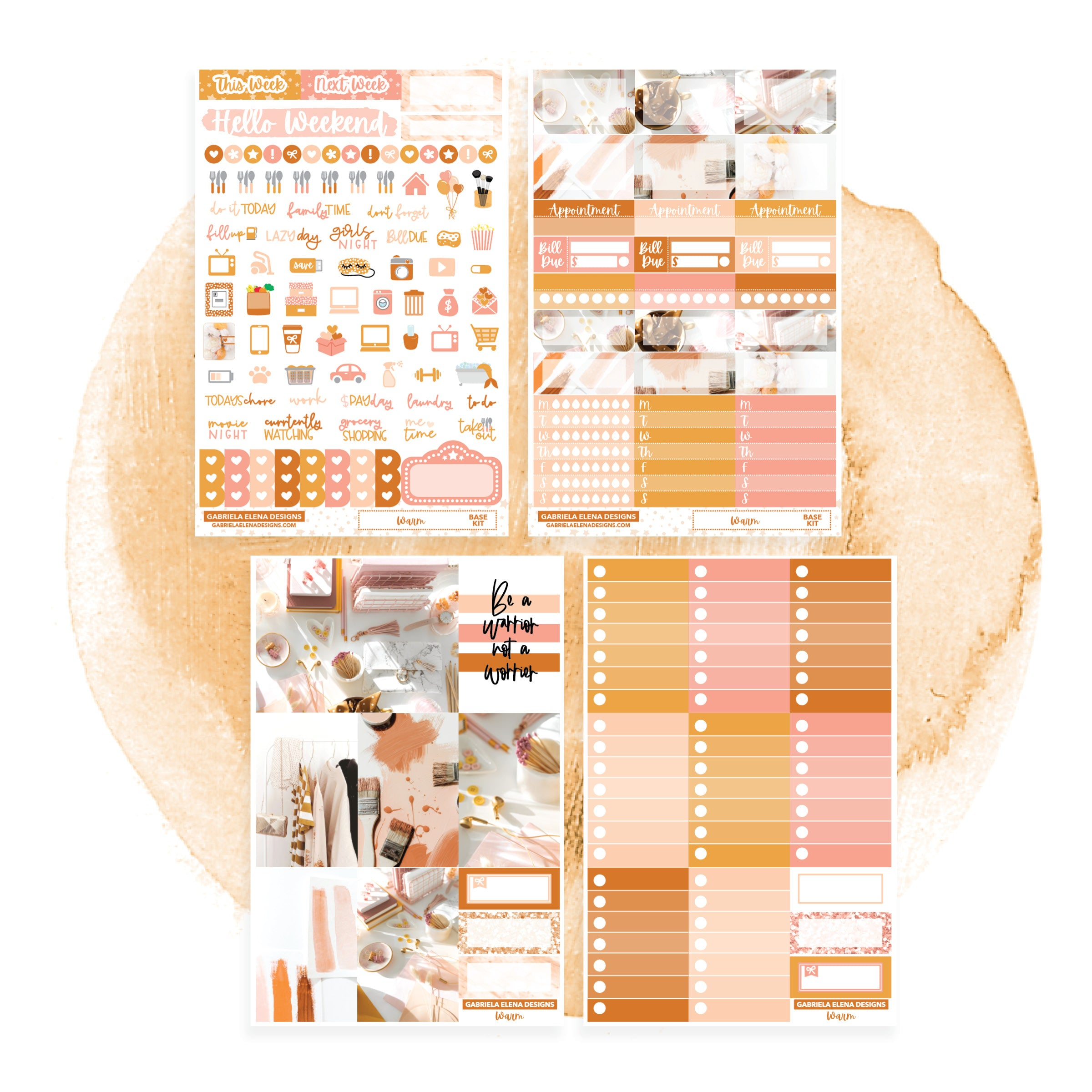 Warm // CLASSIC HAPPY PLANNER / Sticker Kit / FOIL
