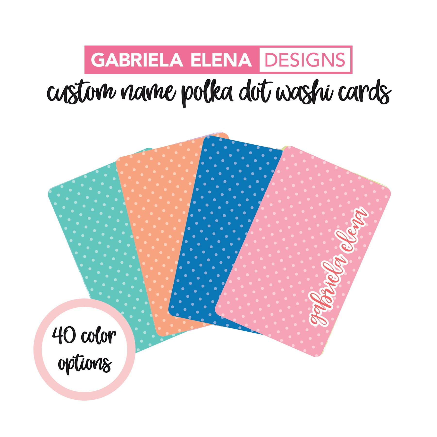 CUSTOM Polka Dot // Washi Card // Pre-Order